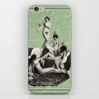 nudes iPhone & iPod Skins featuring Of Fiddlebittery & Birds by mentalembellisher