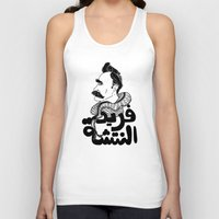 nietzsche Tank Tops featuring Farid Al Natsheh / Friedrich Nietzsche by Sardine