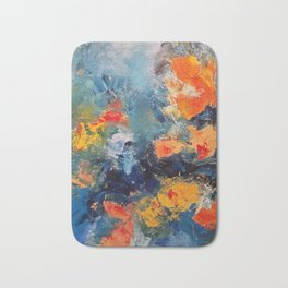 Orange Fish Bath Mat