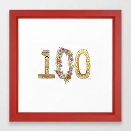 100 Framed Art Print