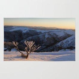 Snow on the Mountainside Rug