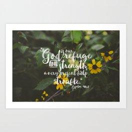 Psalm 46 1 Encouraging Scripture Black Eyed Susan Wildflower Photograph Art Print