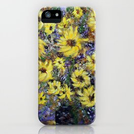 Misty Autumn Sunflowers iPhone Case