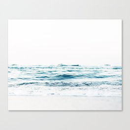Water, Sea, Ocean, Water, Blue, Nature, Modern art, Art, Minimal, Wall art Canvas Print