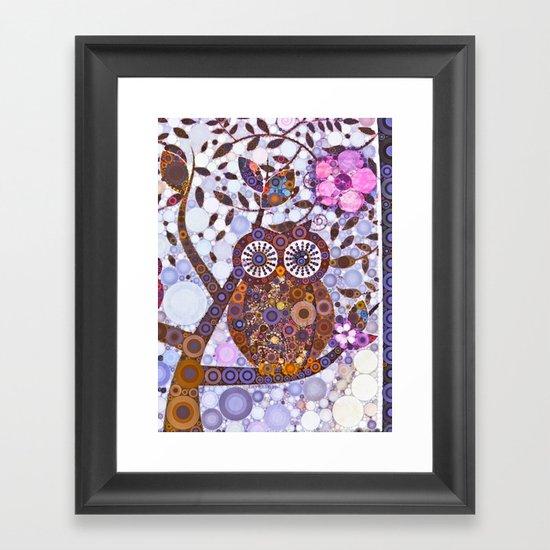 If Klimt Painted An Owl :) Owls are darling birds! Framed Art Print