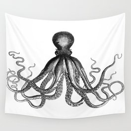 Octopus | Black and White Wall Tapestry