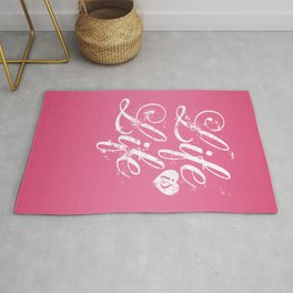 Life Is Life vintage Quote Rug