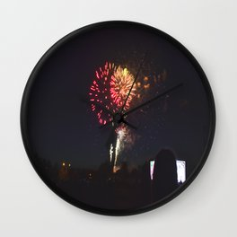 All I See is Fireworks Wall Clock