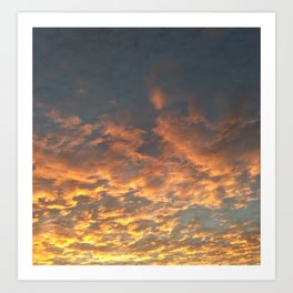 Blazing sunset Art Print