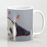 nope Mugs featuring Nope by Michael Creese