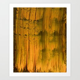 Abstract artwork #32 - The Golden Light Of The Universe - Abstract painting Art Print