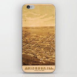 Aerial View of Abingdon, Illinois (1874) iPhone Skin