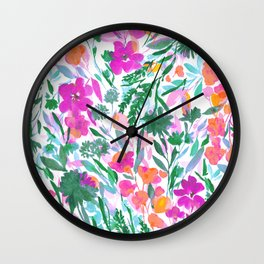 Upside Floral (Time Lapse) Wall Clock