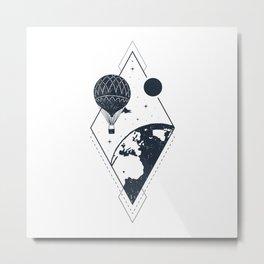Sky. Earth. Air Balloon Metal Print