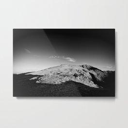 Monochrome mountain Metal Print