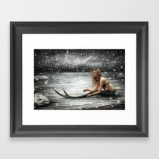 Winter Mermaid Framed Art Print
