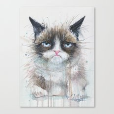Grumpy Kitty Cat Canvas Print
