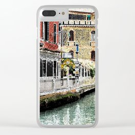 Venetian Canal Clear iPhone Case