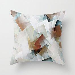 Geometric Stacks White Neutrals Throw Pillow