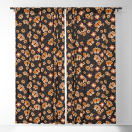 Crisscross Butterflies V.02 - Soot Brown Color Blackout Curtain