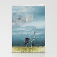 maze runner Stationery Cards featuring Runner by Tony Vazquez