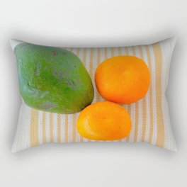 Fruit avocado and oranges. Rectangular Pillow