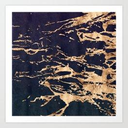 Double Marble Lichenradient Suede Art Print