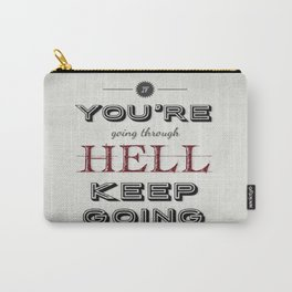 Churchill Quote Carry-All Pouch