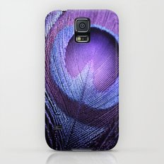 PURPLE PEACOCK Slim Case Galaxy S5