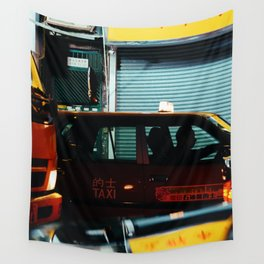 Taxicab Driver (Color) Wall Tapestry
