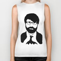 chuck Biker Tanks featuring chuck klosterman by looseleaf