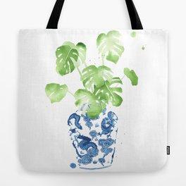 Ginger Jar + Monstera Tote Bag