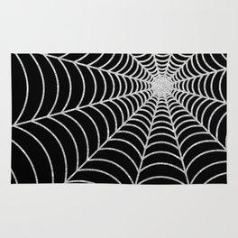 Spiderweb | Silver Glitter Rug