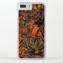 In the djungle Clear iPhone Case
