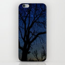 Black Trees Starry Night iPhone Skin