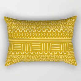 Mud Cloth on Mustard Rectangular Pillow