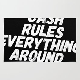 Cash Rules CREAM Rug