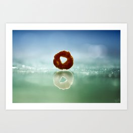 The Runaway Cheerio Art Print