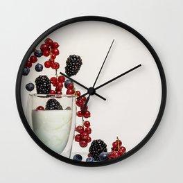 fruits and yogurt Wall Clock