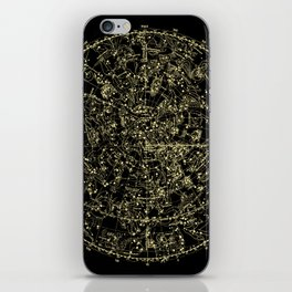 Astro Astronomy Constellations Astrologer Vintage Map iPhone Skin