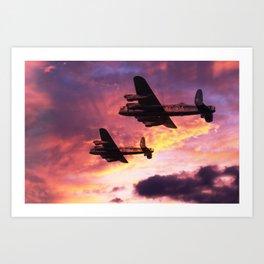 Lancaster Mission - Dawn Raid Art Print