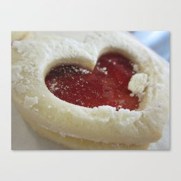 Shortbread Heart Canvas Print