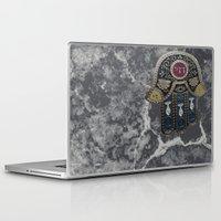 jewish Laptop & iPad Skins featuring Jewish Hamsa by Debra Slonim Art & Design