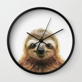 Young Sloth Wall Clock