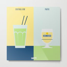 Cocktail VS Pastis (Paris VS Marseille) Metal Print