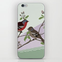 loving chaffinches iPhone Skin