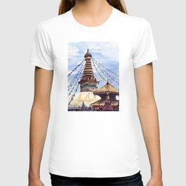 Swayambhunath Stupa Kathmandu Nepal T-shirt