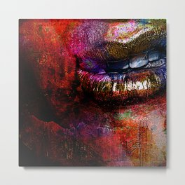 Nothing to say  ( collaboration with the talented Timothy Davis) Metal Print