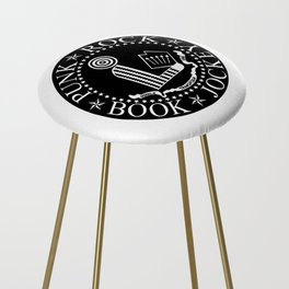 Punk Rock Book Jockey Black Logo Counter Stool