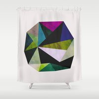 emerald Shower Curtains featuring Emerald by Georgiana Paraschiv